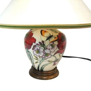 Moorcroft Pottery A Family Through Flowers Lamp (w/ Shade)