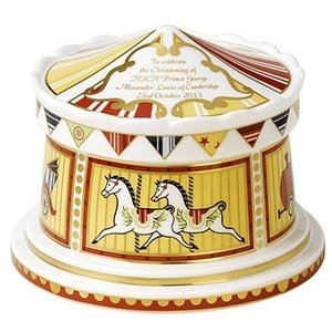 Royal Crown Derby Royal Christening 2013 Carousel Money Box