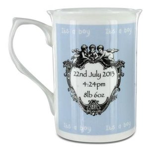 Royal Baby 2013 Mug - Bone China - Blue