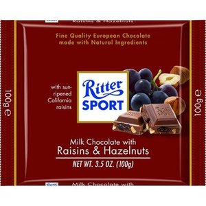 Ritter Sport Ritter Sport Milk Chocolate Raisins and Hazelnuts