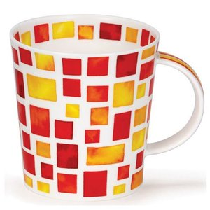 Dunoon Lomond Red/Yellow Piazza Mug