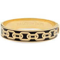 Halcyon Days Chain Bangle - Black and Gold