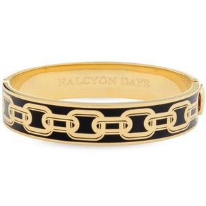 Halcyon Days Halcyon Days Chain Bangle - Black and Gold
