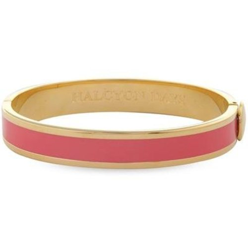 Halcyon Days Halcyon Days Plain Bangle - Coral and Gold