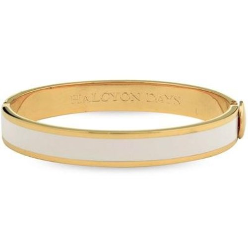 Halcyon Days Halcyon Days Plain Bangle - Cream and Gold