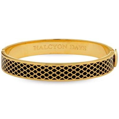 Halcyon Days Halcyon Days Salamander Bangle - Black and Gold