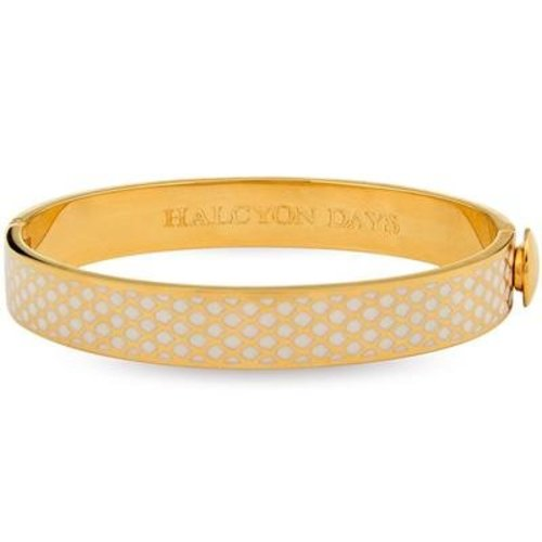 Halcyon Days Halcyon Days Salamander Bangle - Cream and Gold