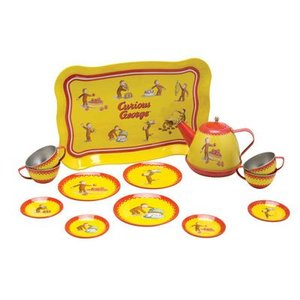 Schylling Schylling Curious George Tin Tea Set