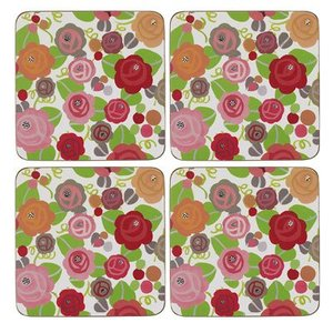 Julie Dodsworth Julie Dodsworth Set of 4 Coasters - Floral Romance