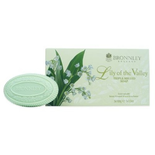 Bronnley Bronnley Lily of the Valley Box of 3 Soaps