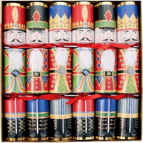 Caspari Christmas Crackers - Nutcrackers - 6 Count