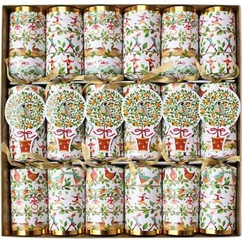 Caspari Caspari Christmas Crackers - 12 Days - 6 Count