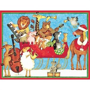Caspari Caspari Christmas Cards - Musical Animals