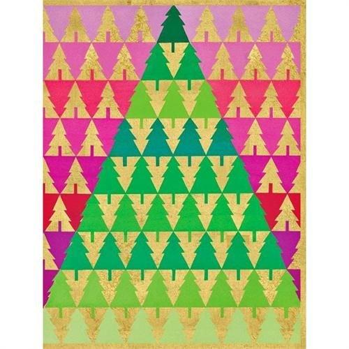Caspari Caspari Christmas Cards - Zig Zag Trees