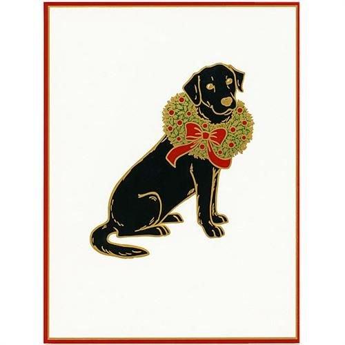 Caspari Caspari Christmas Cards - Christmas Labrador