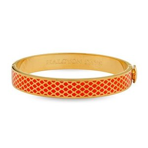 Halcyon Days Halcyon Days Salamander Bangle - Orange and Gold