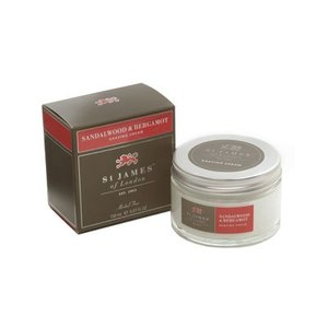 St. James of London St. James Sandalwood & Bergamot Shave Cream Tub