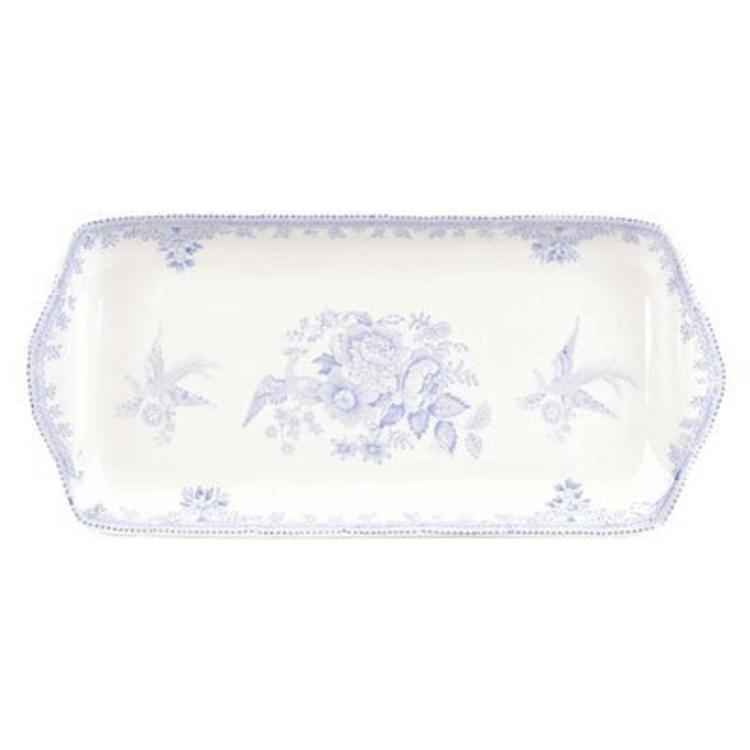 Burleigh Pottery Asiatic Pheasants Blue Sandwich Tray