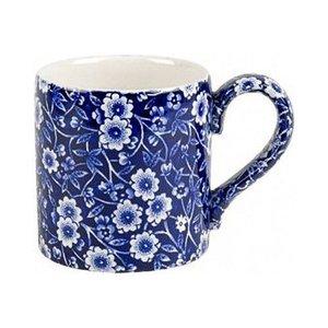 Burleigh Pottery Calico Blue 1/2 Pint Mug