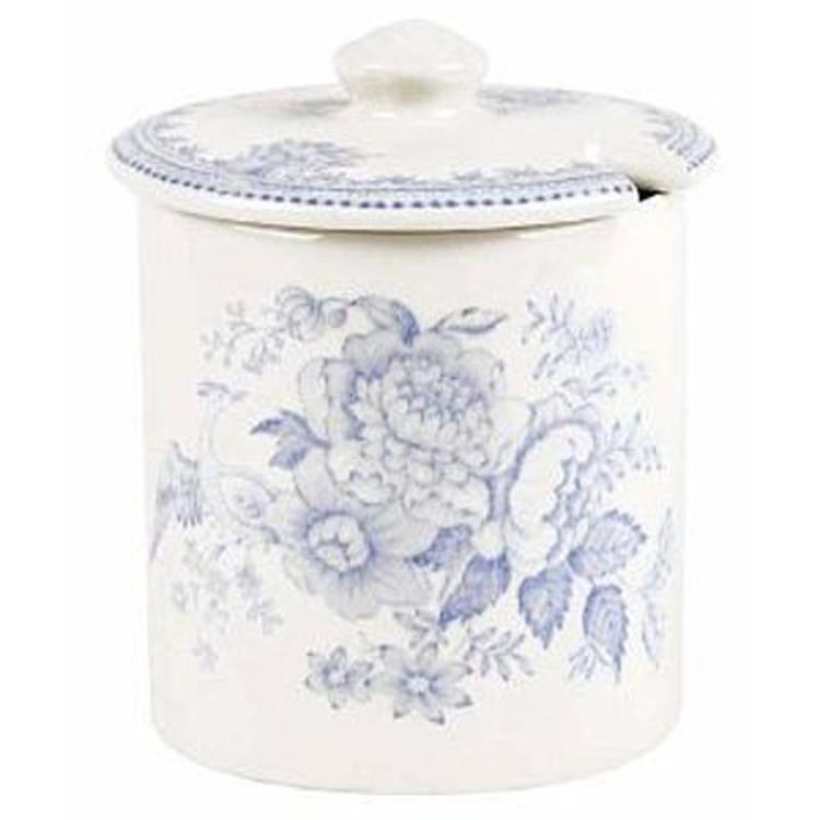 Burleigh Pottery Asiatic Pheasants Blue Covered Jam Pot