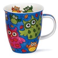 Nevis Dark Blue Owls Mug