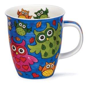 Dunoon Nevis Dark Blue Owls Mug