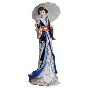 English Ladies Figurines English Ladies Co. Imari Japanese Lady