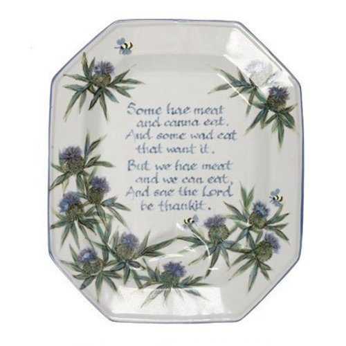 Highland Stoneware Highland Stoneware Thistle Medium Ashet/ Selkirk Grace