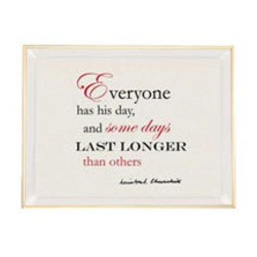 Halcyon Days Halcyon Days Churchill Vanity Tray - Everyone Has His Day