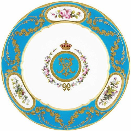 Royal Collection Queen Victoria Dessert Tin Plate