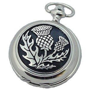 A E Williams Scottish Thistle Pocket Watch