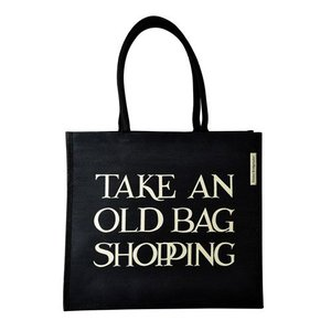 Emma Bridgewater Bridgewater Take an Old Bag Shopping Jute Shopping Bag - Black