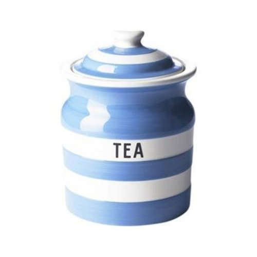 Cornishware Cornishware Storage Jar - Tea - Blue
