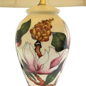 Moorcroft Pottery Moorcroft Calypso Lamp w/ Shade L46/10