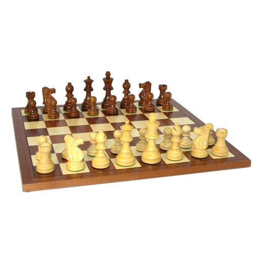 French Sheesham/Boxwood Chessman with Sapele/Maple Chessboard