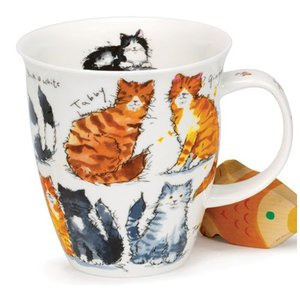 Dunoon Dunoon Nevis Messy Cats Mug