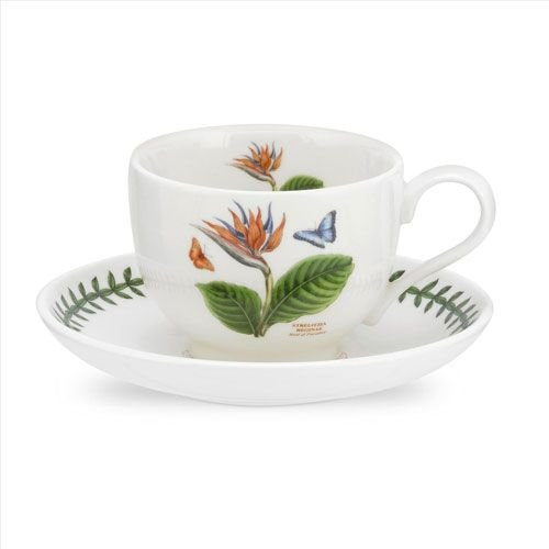 Portmeirion Exotic Botanic Garden Teacup & Saucer - Birds of Paradise