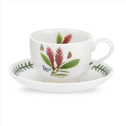 Portmeirion Exotic Botanic Garden Teacup & Saucer - Red Ginger