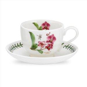 Portmeirion Exotic Botanic Garden Teacup & Saucer - Moth Orchid