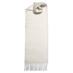 Johnstons of Elgin Johnstons 100% Lambswool Scarf - White