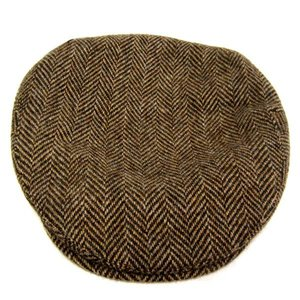 Jonathan Richard Jonathan Richard Donegal Tweed Cap - Brown Herringbone