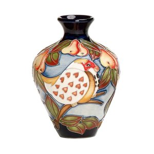 Moorcroft Pottery Twelve Days of Christmas 1 Partridge in a Pear Tree Vase