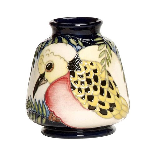 Moorcroft Pottery Twelve Days of Christmas 2 Turtle Doves Vase
