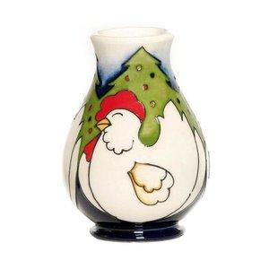 Moorcroft Pottery Twelve Days of Christmas 3 French Hens Vase