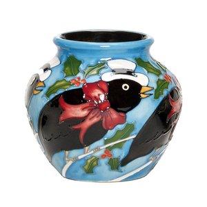 Moorcroft Pottery Twelve Days of Christmas 4 Calling Birds Vase