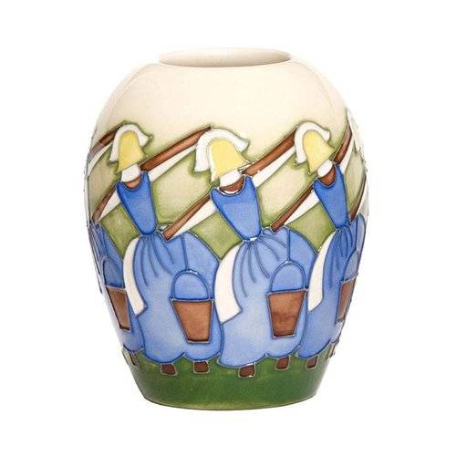 Moorcroft Pottery Twelve Days of Christmas 8 Maids a Milking Vase
