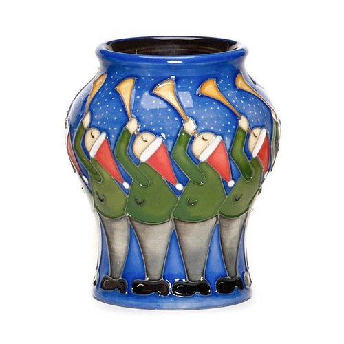 Moorcroft Pottery Twelve Days of Christmas 11 Pipers Piping Vase