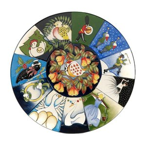 Moorcroft Pottery Moorcroft Twelve Days of Christmas Plate