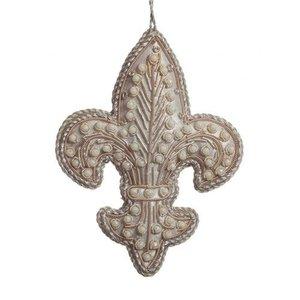 St. Nicolas St. Nicolas Silver Fleur de Lis Ornament