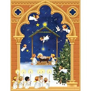 Caspari Caspari Angels 3D Paper Advent Calendar